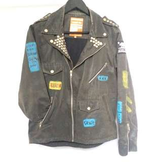 Cosmic leather jacket