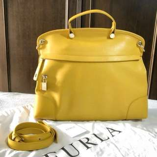 #15Off OFFER!! (PRICE REDUCED) FURLA HANDBAG PIPER IN NECTAR (YELLOW)