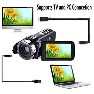 Onshowy CamCorder Full HD 1080p Infrared Night Vision Digital Camcorder, 24 Megapixel 16x Digital Zoom, LCD Display 7.6 cm (3.0 inch) External Microphone Anti-Shake Digital Video Camera Portable DV with Remote Control Included,Black