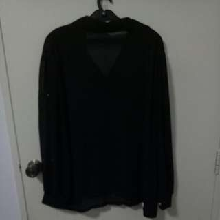 BN Long Sleeve See Thru Top Up To Uk20