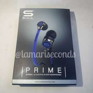 Soul Prime Accoustic in-ear Headphones