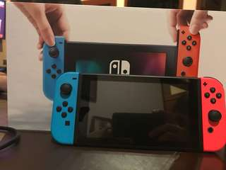 FOR SALE: Nintendo Switch Neon Red & Blue