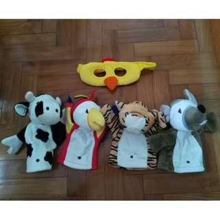 Chicken Masquerade Mask and Puppet Glove Toy ($15 for all 5 items)
