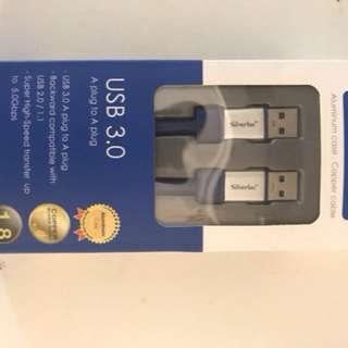 Silvertec USB 3.0 A plug to A plug