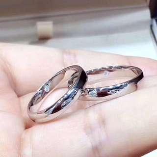 簡約風💍重金18k白金黃金藏鑽石情侶結婚對戒🎁全新生日禮物女朋友男朋友