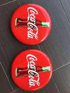 Coca-Cola Metal Sign Deco-305mmx 2 pcs
