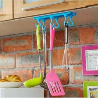 Gantungan tempel 6 kait untuk alat dapur - baju