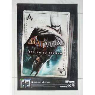 Batman Return to Arkham A2 Size Poster