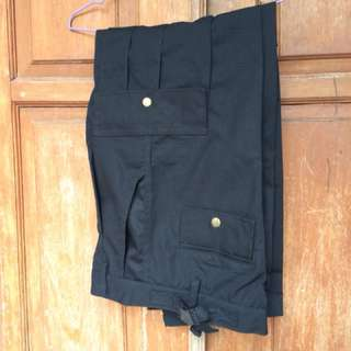 Celana sambungan pendek dan panjang bahan ripstok