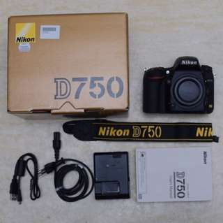 Nikon D750 Used Like New