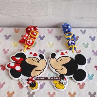 日本迪士尼樂園限定 米老鼠 米奇米妮 甜蜜蜜情人節款 票卡夾/悠遊卡夾/識別證夾 1組2入 #超取半價