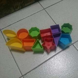 Preloved Shape Color Learning Toys Ball