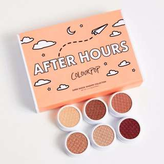 BNIP Colourpop After Hours Supershock Eyeshadow Partial Kit