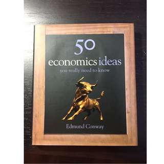 50 Economics Ideas You Really Need to Know Edmund Conway Hardcover