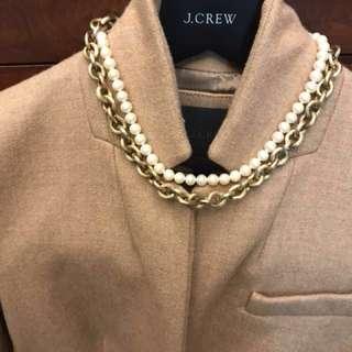 J.crew風vintage 珍珠頸鏈