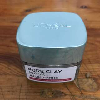 Loreal pure clay mask (illuminating)
