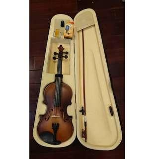 小提琴 4/4 音色優美 附琴盒 調音器 松香