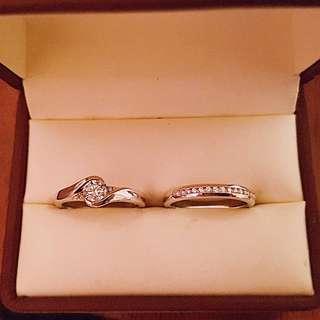 Custom designed White Gold Diamond Rings