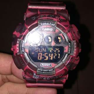 Gshock Red Camouflage