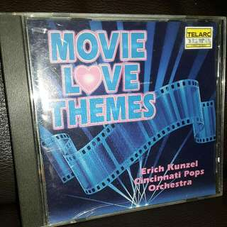 orchestra cd telarc digital movie love themes made in usa