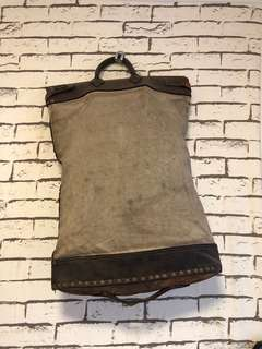 Vintage canvas leather bag