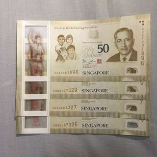 SG50 Notes All 4 for $215