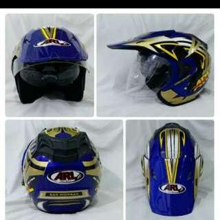 Helm ARL semicross double visor blue