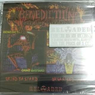 Music CD (Sealed, 2xCD, Metal): Benediction ‎– Grind Bastard / Organised Chaos - U.K. Death Metal