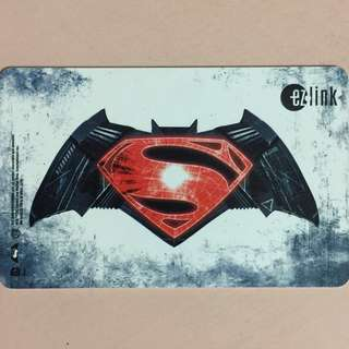 Limited Edition brand new Batman vs Superman Design ezlink Card For $15.