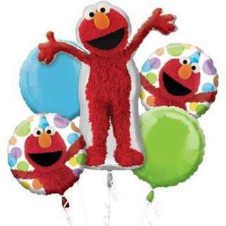 BNIB Anagram Elmo Birthday Foil Balloon Bouquet
