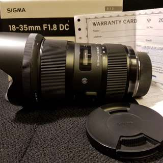 WTS Sigma ART 18-35mm F1.8 Nikon Mount with Warranty Left condition 9/10 Final Reduction