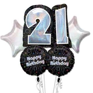 BNIB Anagram Foil Balloons for 21st Birthday Party