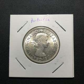 澳洲1954 50%銀