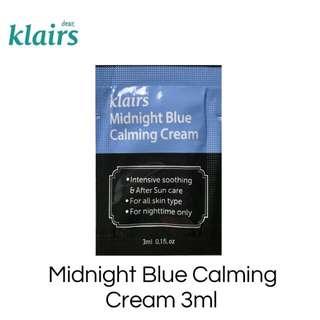 Dear Klairs Midnight Blue Calming Cream 3ml