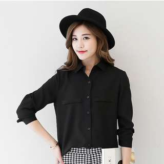 Black Blouse for the Executive Look