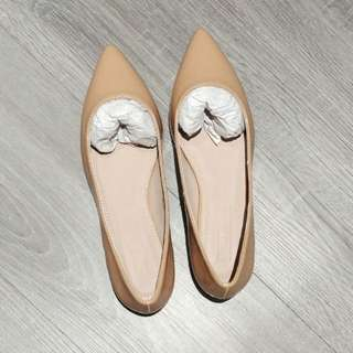 Asos nude patent shoes