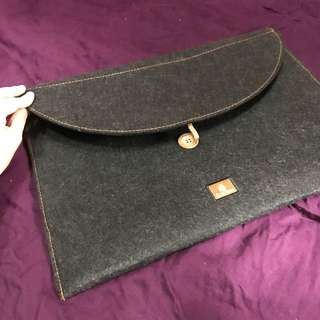 Grey fabric Laptop Sleeve case (by Emirates airlines)