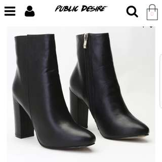 Public desire presley ankle boot