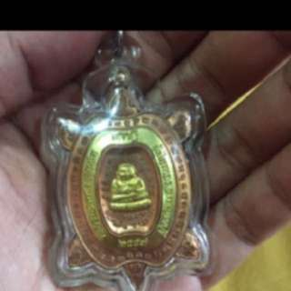 {FS138} LP phet wealth turtle amulet with real gold plated