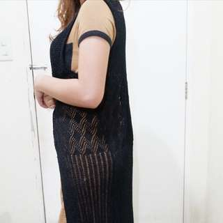 F21 Knitted Black Sleeveless Vest