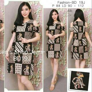 Batik Dress Batik Modern,Batik Top Bd 9J
