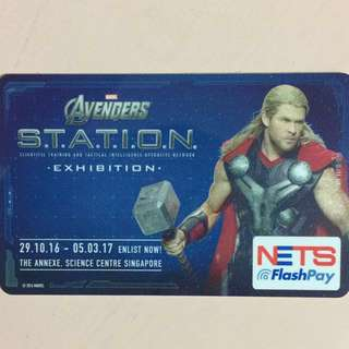 Limited Edition brand new Avengers Thor Design Nets Flash Pay Card For $7.