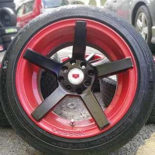 Vossen cv3 15 inch sports rim alza tyre 70%. Pergi perigi cari timba, boss ini rim memang cun membara!!