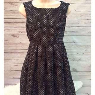 Zara Black Polka Dot Dress