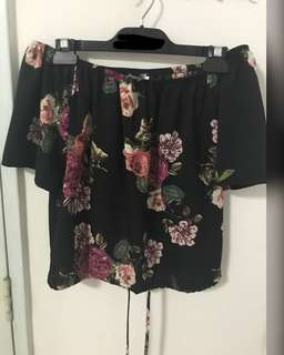 TEMT floral off shoulder top