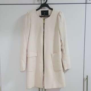 H&M pastel pink coat