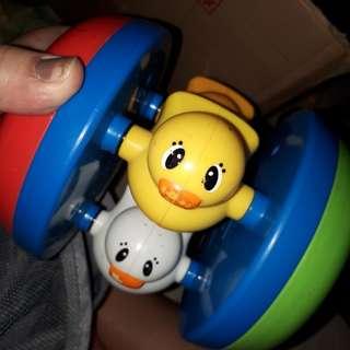 Rolling playskool duck