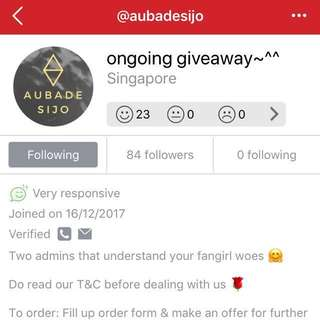 AUBADESIJO'S SECOND GIVEAWAY