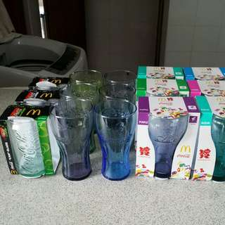 Coca Cola World Cup & Olympics collectable glasses
