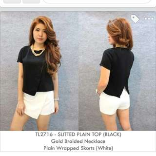 Slitted Plain Top